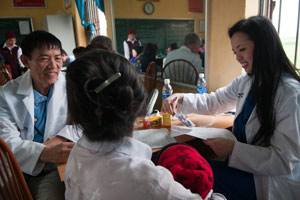 The Kieus work together in primary care in a remote village.