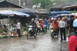 The Market in Bac Kan, Vietnam